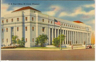Vintage Linen Postcard U.s. Post Office, St. Louis, Mo.