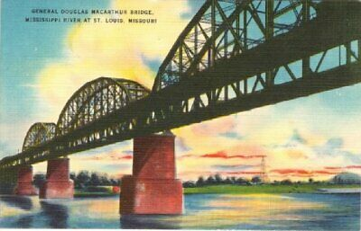 General Douglas Macarthur Bridge Mississippi Bridge At St. Louis Missouri