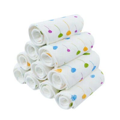 3 Layer Prefold Reusable Eco-Cotton Cloth Baby Infant Diapers Washable N3