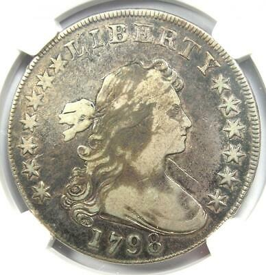 1798 Draped Bust Silver Dollar $1 BB-105 - Certified NGC VF Details - Rare Coin!