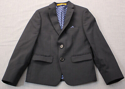 Tallia  Boys Navy Blue 2-Button Sport Coat Jacket Blazer w Pocket Patch  NEW  6