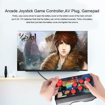 Arcade Joystick Game Controller AV Plug Gamepad Console w/ 145 Games for TV