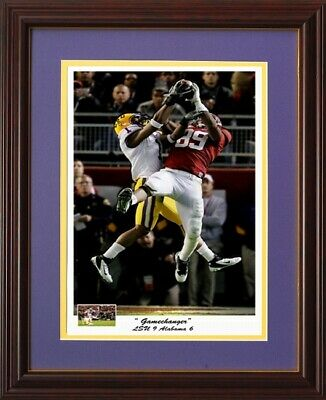 Lsu Football Gamechanger Framed Print Vs Alabama 2011 By Pitts Reid Interception