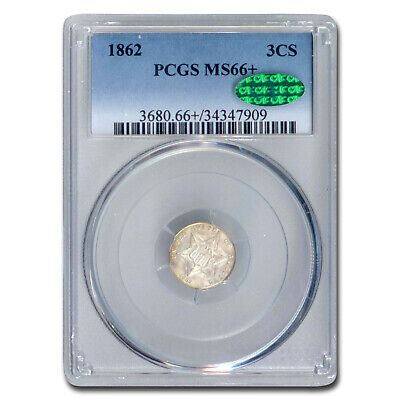1862 Three Cent Silver MS-66+ PCGS CAC - SKU#209976
