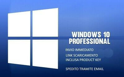 Microsoft Windows 10 Pro Versione 64bit Full per Windows