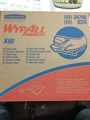 Kimberly-Clark 34790 WypAll X60,9,1x16,8in White-126 Pack