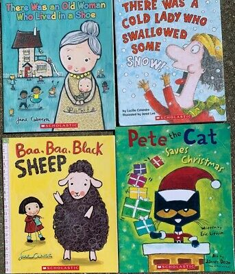 Lot 4 Childrens Kids Books Early Readers Beginning Scholastic