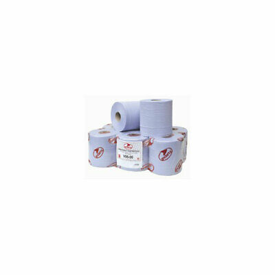 Andarta 21-008 2Ply Blue Embossed 150m Centre Feed Roll - Pack Of 6