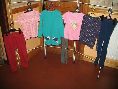 Beautiful Selection Girls Long Slv Top/T-Shirt/Tights-Good Cond/M&S/Next-4-5 Yrs