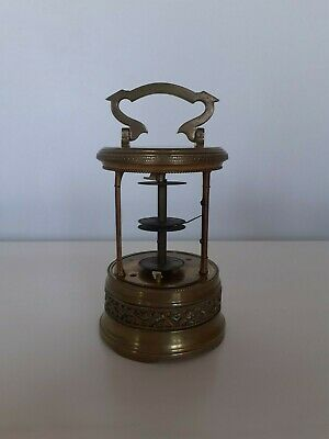 French 8 Day Flip Jump Hour Plato Mystery Carriage Clock Mechanism Works