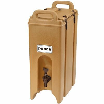 Cambro 500LCD157 Camtainer Beige 4.75 Gal. Insulated Beverage Server