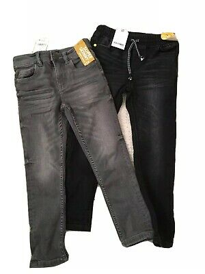 BNWT Boys Super Skinny Next Jeans Age 6 Black And Grey