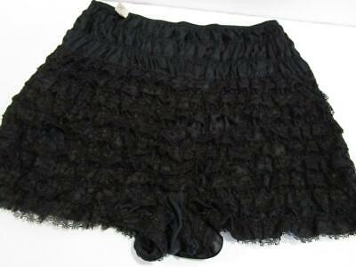 Vintage Pettipants Bloomers Lace Squaredance Rockabilly Pin Up Panties Black S
