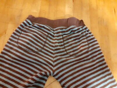 Mini Boden Blue/ Brown Stripe Velvet Drawstring Trousers. Girls. Age 11