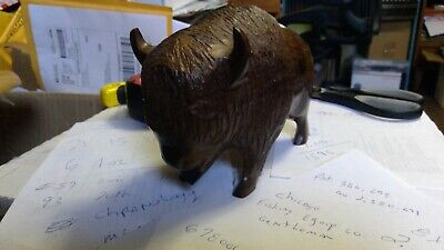 Carved wooden Buffalo Ironwood 2lb 6oz. 8x5x3