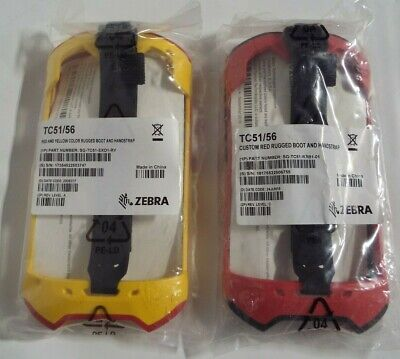 Zebra TC51/56  Barcode Scanner Rugged Boot Protector Yellow/Red & Black/Red @S62