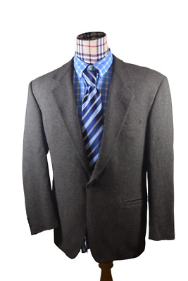 Versace V2 Ours Only Mens Gray No Vent one button Sport Coat Blazer Jacket 42 L