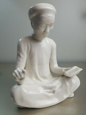 Chinese Blanc de Chine Porcelain Seated Scribe