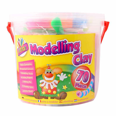 70Pcs Colours Modelling Clay Strips Set For Art Craft Plasticine Play Doh Party