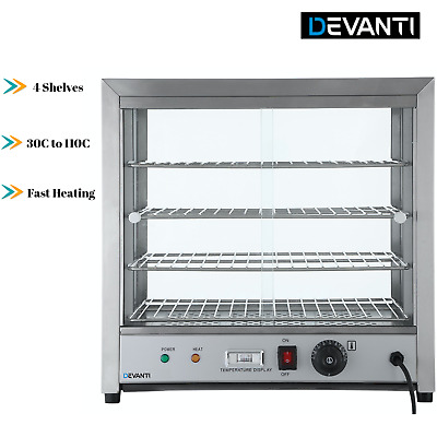 Display Cabinet Commercial Food Warmer Stainless Steel Pizza Pie Hot Showcase