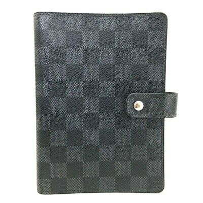 100% Authentic Louis Vuitton Damier Graphite Agenda MM Notebook Cover /p213