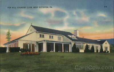 West Pittston,PA Fox Hill Country Club,PA Luzerne County Linen Postcard Vintage