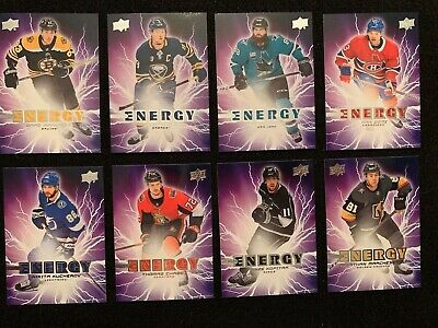 2019-20 Upper Deck Series 1 Pure Energy - LOT OF 32 - Matthews Draisaitl +++