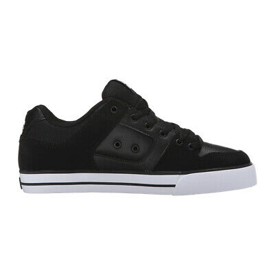 "DC Shoes ""Pure"" Shoe (Black/Black/White) Men's Skate Skateboarding Sneakers"