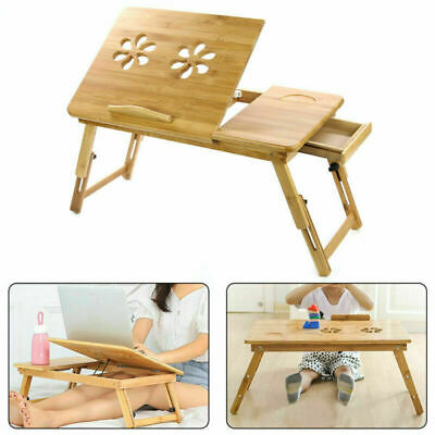 Mordern Bamboo Portable Folding Leg Laptop Notebook Table Bed Tray PC Desk Stand