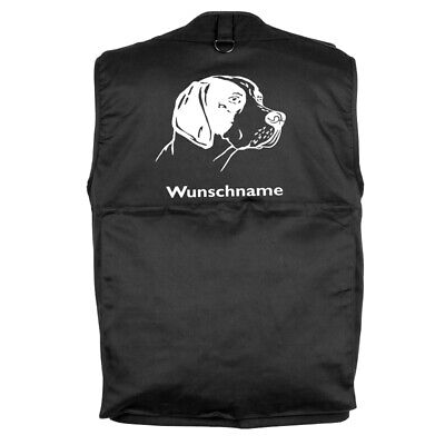 MIL-TEC Hundesport Outdoor Weste English Pointer 2 inkl. Wunschname