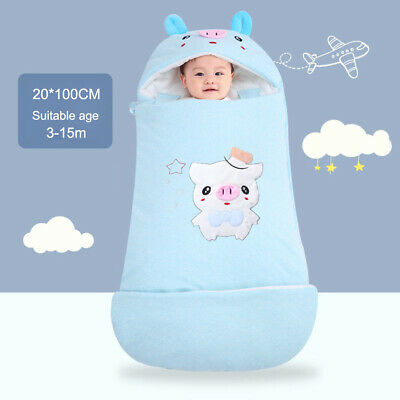 Multicolor Cartoon Pig Newborn Baby Thicken Sleeping Bag Cotton Warm Sleep Sack