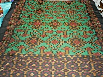 Antique authentic ikat cloth or throw