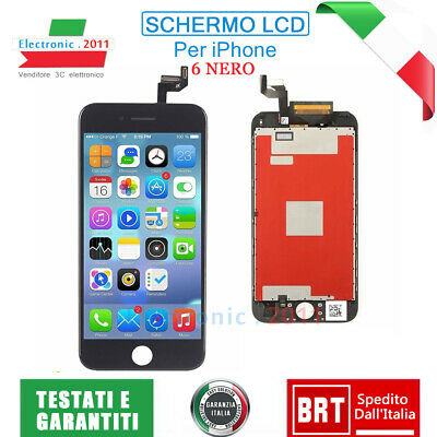 Display Schermo Per Apple Iphone 6 Nero Touch Screen Frame Lcd Originale Tianma