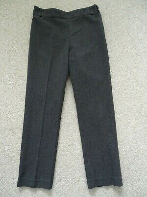 Girl's Charcoal Grey School Trousers from TU at Sainsburys Age 7 Years
