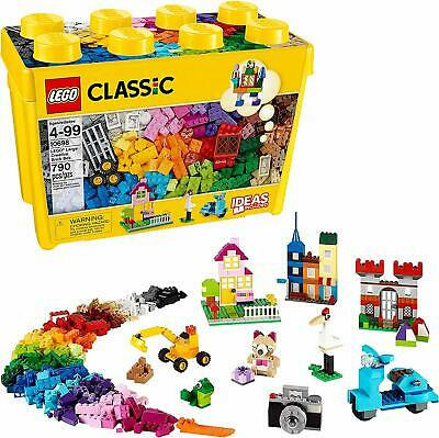 LEGO Classic: Large Creative Brick Box [10698, Ages 4-99, 790 Pieces, Ideas] NEW