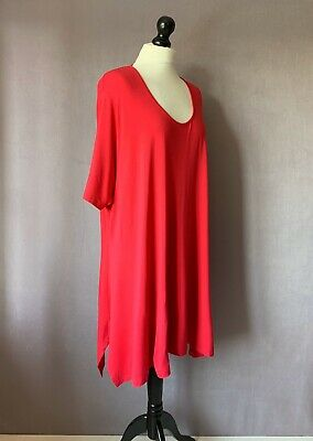 """BOX 2 Lovely Wardrobe Essential Stretch Jersey Tunic Top in Pink 20/22 52"""" Chest"""