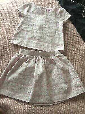 F&F Girls Summer Pink Skirt And Top  Age 2/3 Excellent Condition
