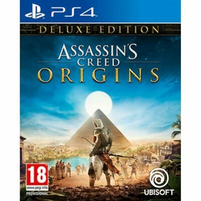 Assassin's Creed Origins Deluxe Edition PS4 BRAND NEW AND FACTORY SEALED.