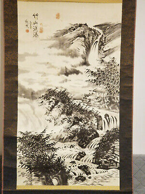 Antique / Vintage Chinese / Japanese Painting Of Stream / Watercolor Paper