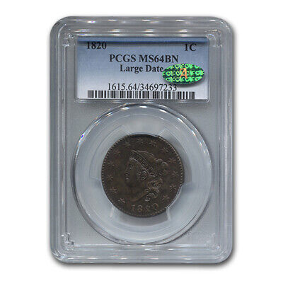 1820 Large Cent MS-64-PCGS CAC (Brown, Large Date) - SKU#17131