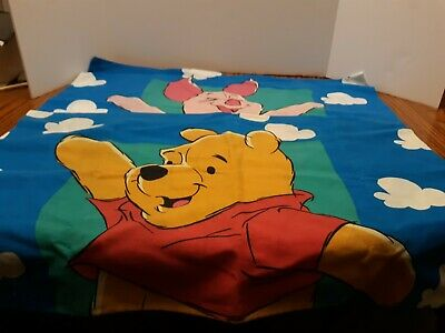 Disney Winnie The Pooh & Piglet Vintage Pillow Case Clouds Double Sided Set of 2