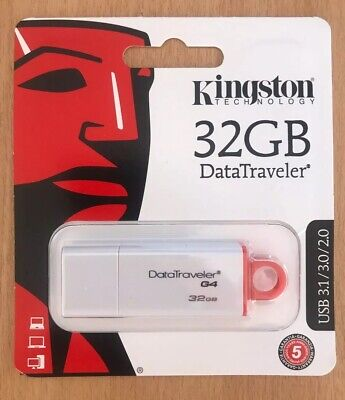 Kingston USB Memory Stick 32GB 3.1 / 3.0 / 2.0 Data Traveler G4 Flash Pen Drive