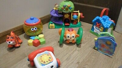Baby Toy Bundle VTech Leapfrog Treehouse Phone Book  Busyhouse Rollalong  Shapes