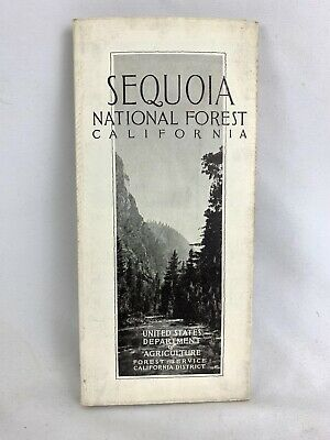 1927 Sequoia National Forest Service California Map department Of Agricultural