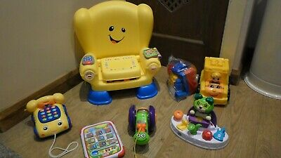 Toddler Toys Bundle Fisher Price Chair  Pull Along  Phone  Leapfrog Band  Blocks