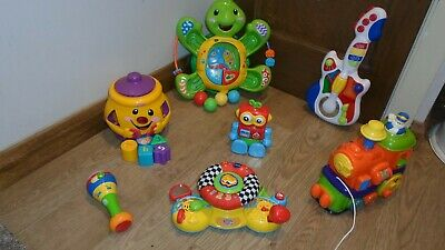 Toddler Toy Bundle Fisher Price Train Driver Guitar Robot Cookie Jar Shapes MORE