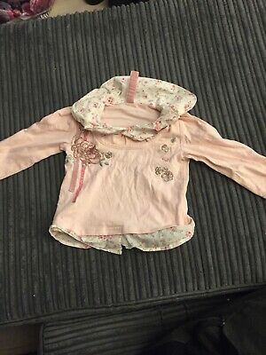 Baby Girls Pink Colored Top From Next Aged 12-18 Months