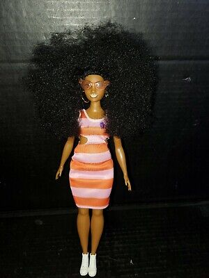 Barbie Fashionistas African American Curvy Afro Doll 2015