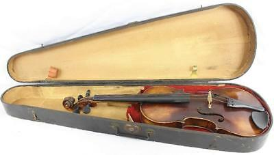 Vintage Von Fried August Glass Stradiuarius 1737 4/4 German Violin w/Wooden Case