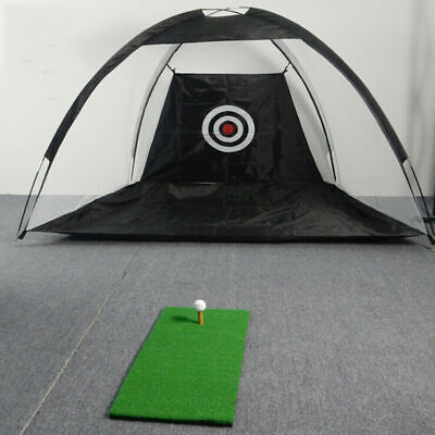 "Pop Up Golf Practice Set Hitting Net 3'3""X4'6"" Indoor/Out Golf Training Aid New"
